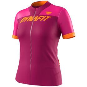 Dynafit Ride Full-Zip Kurzarmshirt Damen pink